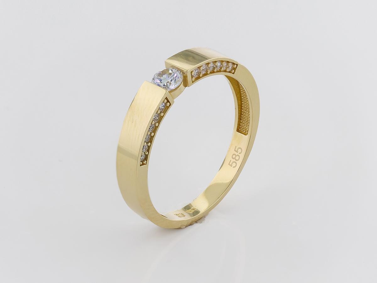 Zlatý prsteň PR21046