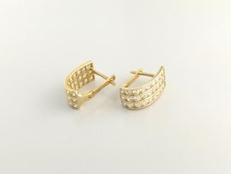 Zlaté náušnice DO20133