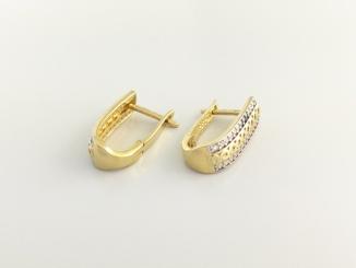 Zlaté náušnice DO20136